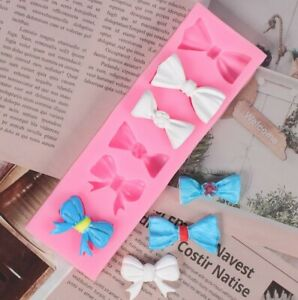 Bow Knot Silicone Icing Mould Baking Chocolate Cake Sugar craft Topper Fondant