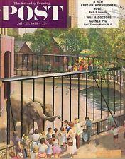 The Saturday Evening Post July 25 1953 John Clymer Vintage Americana