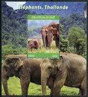 Mali 2018 MNH Elephants in Thailand 1v M/S Trees Wild Animals Stamps