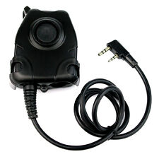 Waterproof PTT Cable For KENWOOD K Plug forZ Tactical Noise Reduction Headset CO