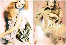 Publicité Advertising 2005 (2 pages) Haute Couture sac à main Dior Kate Moss