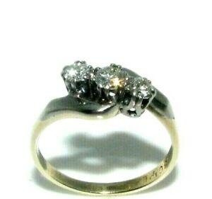 Ladies Womens 18Carat Gold & Platinum Antique Diamond Ring UK Size I 1/2