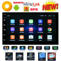 7'' 2 Din Autoradio GPS Navi Android 8.0 16GB 4K Stereo Player Bluetooth Wifi FM