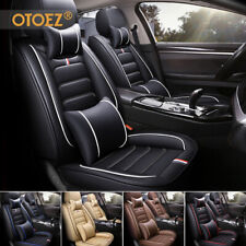 5 Seat Full Set Car Seat Cover Luxury Leather Universal Front Rear Back Cushion(Fits: More than one vehicle)
