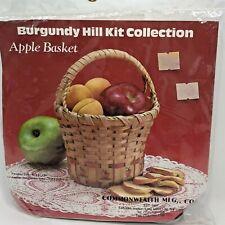 Apple Basket Burgundy Hill Basket Kit Vintage Kit 1988