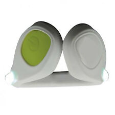 Nueva Luz Led Clip en zapato para los corredores y ciclistas Podómetro Blanco/Verde De Seguridad