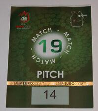 OLD TICKET PASS to Pitch * Rare * EURO 2008 * Croatia Poland in Klagenfurt