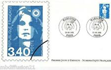 1991**ENVELOPPE ILLUSTREE***FDC 1°JOUR!!**MARIANNE-3.40**TIMBRE Y/T 2716