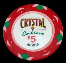 Crystal Casino Sonesta Aruba $5 Chip $5.00 Blackjack Craps Poker Roulette Token