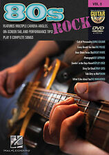 Guitarra Play Along 80s Rock aprender Juego Policía Def Leppard Stray Cats Music Dvd