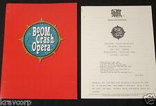 BOOM CRASH OPERA—1990 PRESS RELEASE