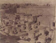 Egypte site archéologique Photo Peridis Vintage Albumine ca 1875