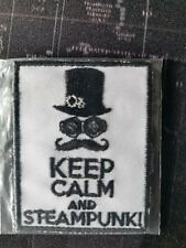 Keep Calm and Steampunk Patch Badge Label 5x6.5cm