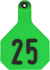 Ytex 4 Star Large Green Cattle Ear Tags Numbered 76-100