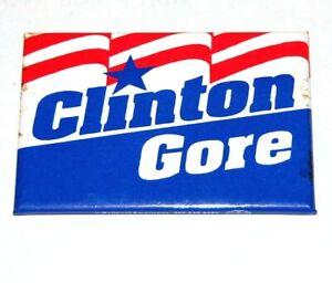 1996 BILL CLINTON AL GORE campaign pin pinback button political presidential