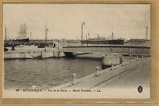 Cpa Dunkerque - vue de la Darse bassin Freycinet rp0539