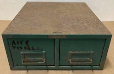 Vintage Industrial Cabinet 2 drawer bin parts cubby storage shelf shop rust