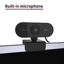 1080P HD cámara web de escritorio Laptop Computadora PC Camera construido en el micrófono Clip En Nosotros
