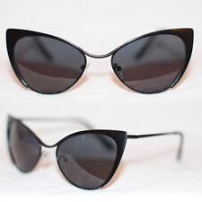 Cat Eye Sonnenbrille Pinup 50er Jahre Rockabilly voll metall schwarz 50's 973