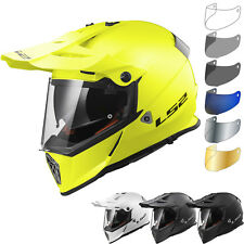 LS2 Helmet Motorbike Off-road Mx436 Pioneer Solid White L