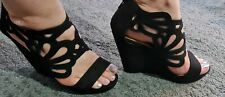 New Look Black Cut Out Wedges Size 5