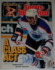 WAYNE GRETZKY HOF hand signed AUTOGRAPHED SPORTS ILLUSTRATED EDMONTON OILERS mag