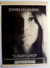 Emmylou Harris 1977 Poster Ad Luxury Liner