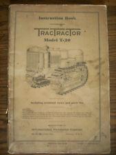 Ih Farmall Mccormick International T20 Crawler Owners Manual