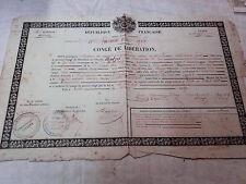 Congé de Liberation - 1849 - 10e Léger - Tulle