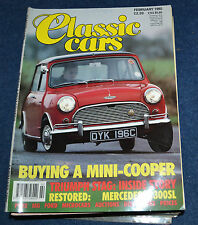 Classic Cars February 1992 buying a Mini Cooper, Triumph Stag, Mercedes 300SL