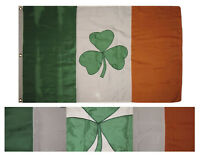 3x5 Embroidered Ireland Shamrock 2ply 600D Nylon Flag 3'x5' Banner