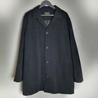 Mens Black Wool Blend Smart Coat Next - Jacket - Work Formal Wear Suit - Size XL