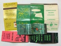 Lot Of 7 Vintage Matchbook Covers Bars And Lounges Milwaukee Long Beach Chicago