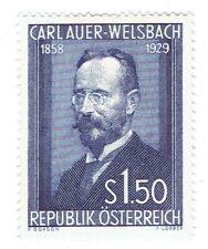 Austria 1954. Carl Welsbach 1858 - 1929. S1.50 blue. Scott 595. Mnh. Thin.