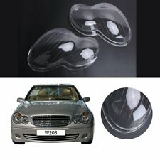 2x Plastic Headlight Shell Cover For Mercedes Benz W203 C-Class C280 C350 01-07