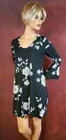 Women's Dress M Long Bell Sleeves Black & Gray Karen Kane Casual Work Clothes