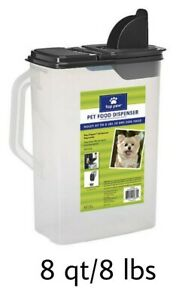 Top Paw® Pet Food Storage & Dispenser - (1) 8 qt Clear Plastic Container (8 lbs)