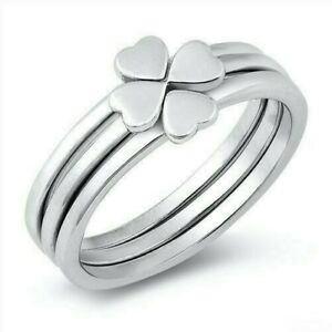 Heart Puzzle Ring Genuine Sterling Silver 925 Rhodium Plated Height 7 mm Size 7