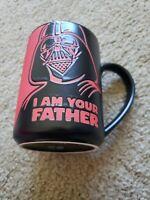 Hallmark Star Wars Darth Vader I AM YOUR FATHER Coffee Mug Cup Black Red