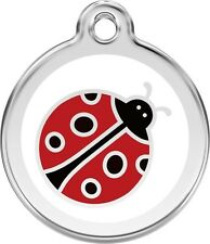 Ladybird Enamel/Solid Stainless Steel Engraved ID Dog/Cat Tag