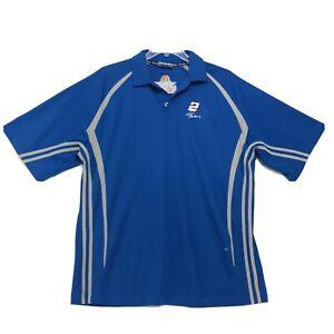 Rusty Wallace Last Call Penske Racing Polo Golf Shirt Mens Size 2XL Short Sleeve