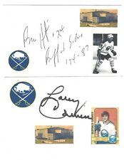Larry Carriere Signed / Autographed Index Card Buffalo Sabres