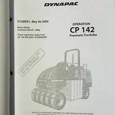 DYNAPAC CP 142 Pneumatic Tire Roller Operation and Parts Manual
