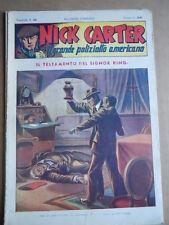 Nick Carter Il Grande poliziotto americano Anni 40 n°59 ed. NERBINI  [G369]