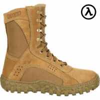 "ROCKY S2V 8"" USA-MADE STEEL TOE MILITARY BOOTS / COYOTE 6104 * ALL SIZES - NEW"