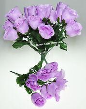 7 X ROSE BUDS Lavender WEDDING PARTY CENTERPIECES SILK FLOWERS DECORATION 1 BUSH
