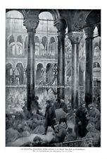 Türkische Soldaten in Hagia Sofia XL Kunstdruck 1912 Cholera Moschee Türkei