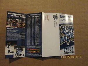 USHL Indiana Ice Vintage Circa 2007-2008 Hockey Season Ticket Brochure
