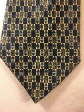 ALTEA MILANO Cravatta Di Seta Blu Crema ottime condizioni