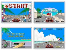 Outrun Arcade Fridge Magnet Set. Retro Gaming. Racing